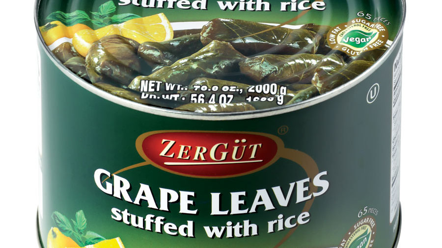 Zergut Stuffed Grape Leaves w/rice 2 kg