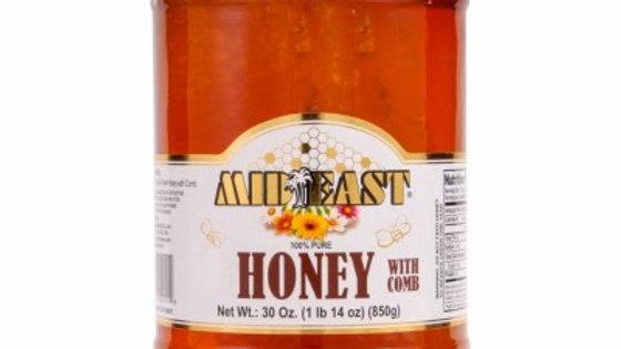 M.E Pure Honey w/Comb 30oz