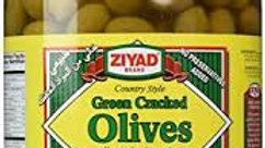 Ziyad Balady Green Cracked Olives 48 oz Jar