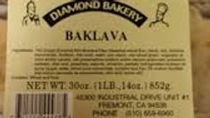 Diamond Bakery Tray of Baklava  36oz