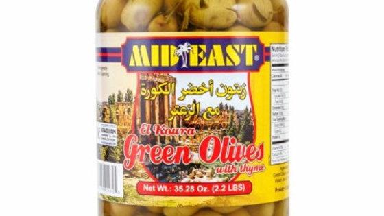 M.E Koura Green Olives w/Zattar 1kg