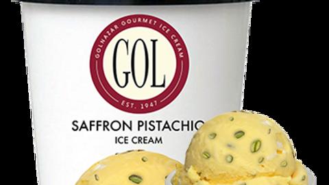 Golnazar Saffron Pistachio Ice Cream 1 pint