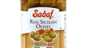 Sadaf Green Crack and Spicy Sicillan Olives 12oz