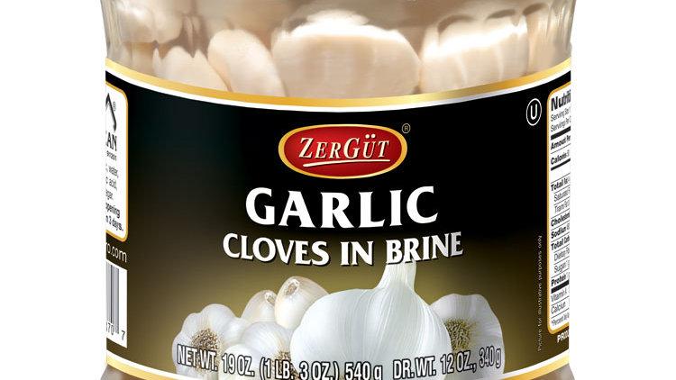 Zergut Garlic Cloves in Brine 19 oz