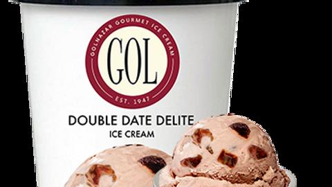 Golnazar Double Date Delite Ice Cream 1 pint