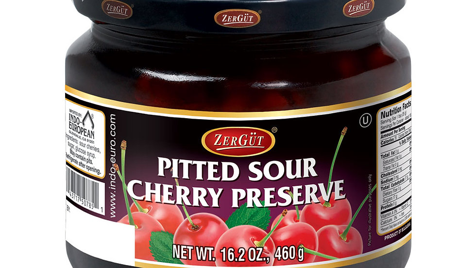 Zergut Pitted Sour Cherry Preserve 16.5 oz