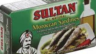Sultan Sardines in Olive Oil/Hot 4.37 oz