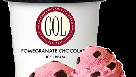 Golnazar Pomegranate Chocolate Ice Cream 1 pint