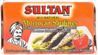 Sultan Sardines Tomato Sauce/Hot 4.37 oz
