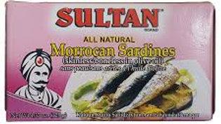 Sultan Sardines Bnlss/Sknlss - Olive Oil 4.37 oz