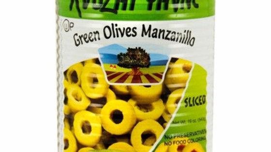 Yavne Green Sliced Olives