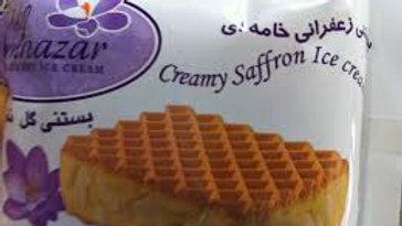 Golnazar Creamy Saffron Ice Cream Sandwhich