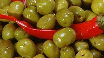 Spicy Palestinian Olives in Bulk 1 lb