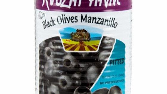 Yavne Black Pitted Olives 19oz
