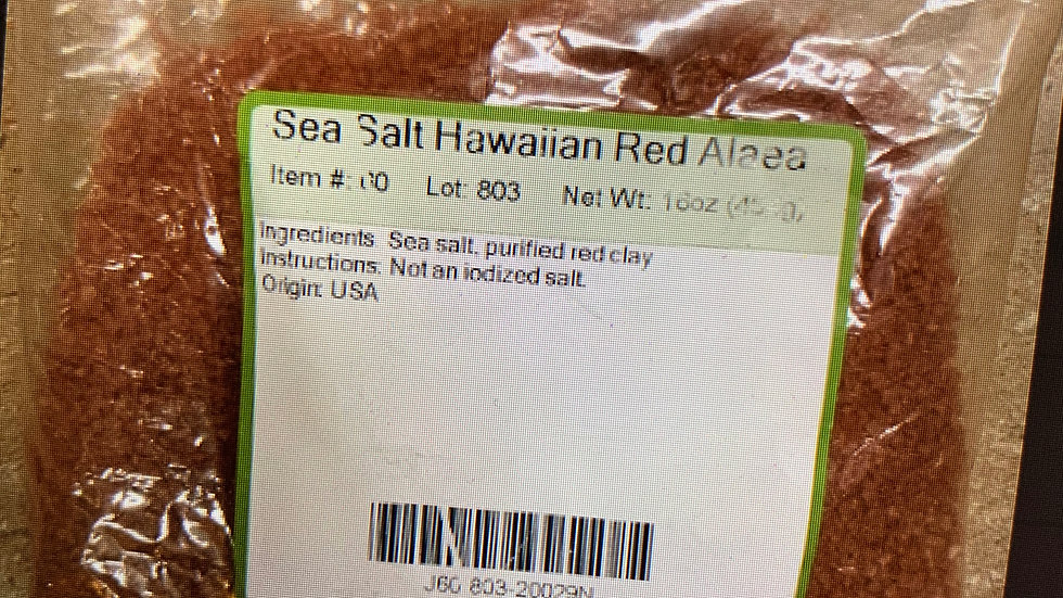 Sea Salt Hawaiian Red Alaea 1 lb