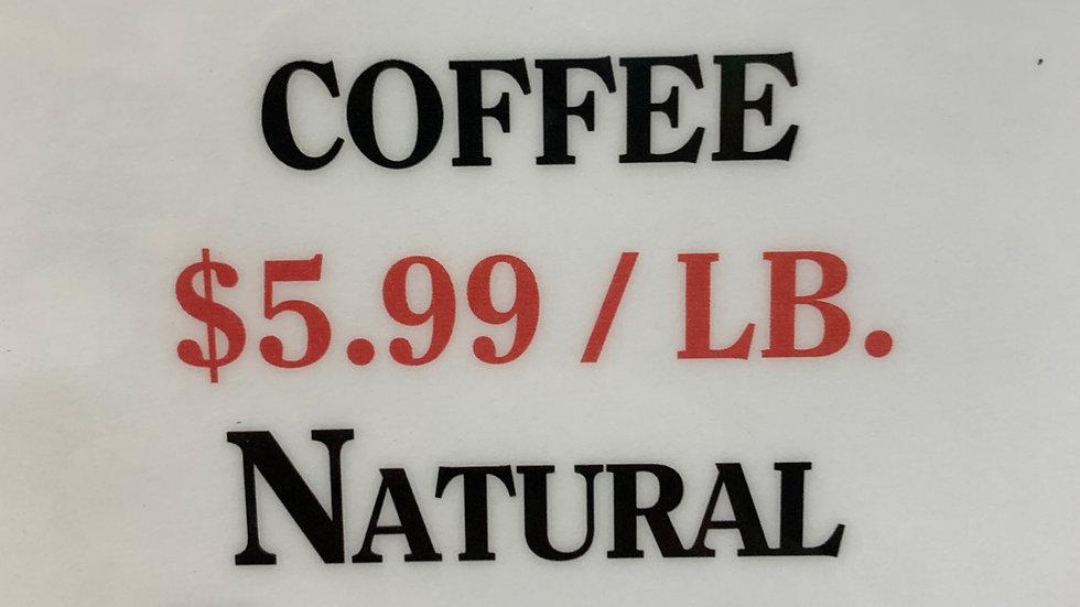 Bulk Green Coffee Natural Ethiopian Yirgacheffe 1 lb