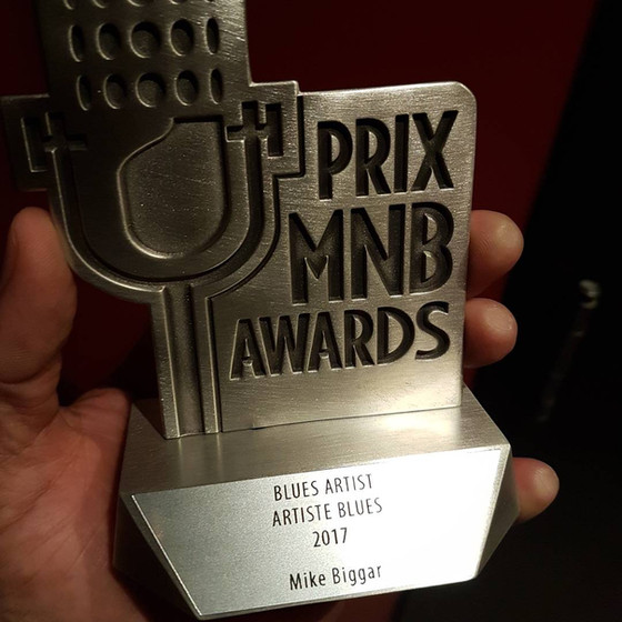 "Mike Biggar Wins 2017 Music New Brunswick Award - ""Blues Artist of the Year"""