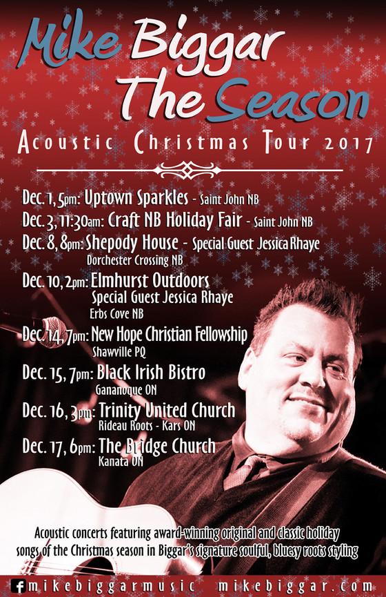 2017 Mike Biggar Acoustic Christmas Tour!