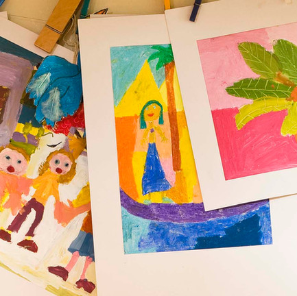 Childcare Services | Children Showing off Artwork | Lake Country Childcare | Pewaukee