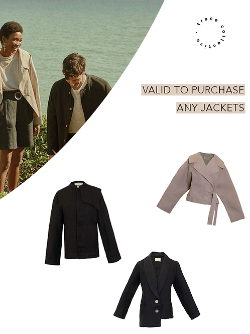 Gift any Jackets & Get 15% off