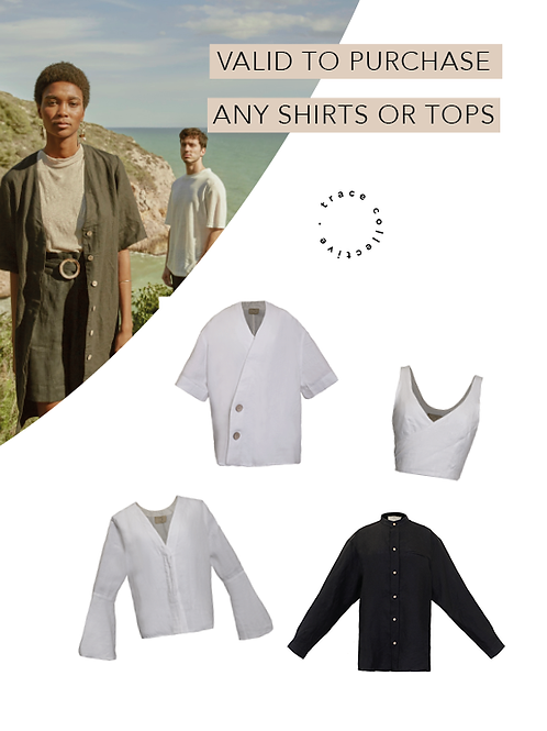 Gift any Shirts or Tops & Get 15% off