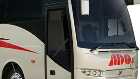Sanitización de camión de pasajeros