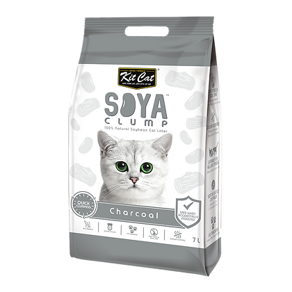 Kit Cat Soya Clump Charcoal ( 7Litre )