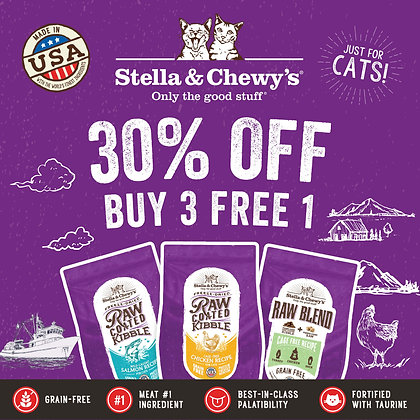 Stella & Chewy's Raw Coated Kibbles Promo