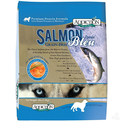 Addiction Dog Salmon Bleu ( 4lb / 20lb / 33lb )