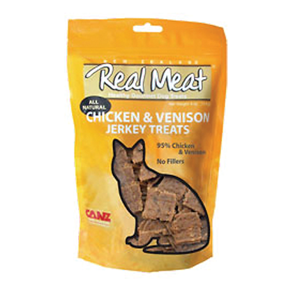 Real Meat Chicken & Venison Jerky For Cats (3oz)