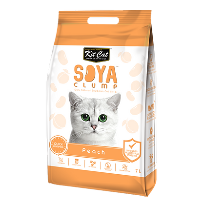 Kit Cat Soya Clump Peach ( 7Litre )