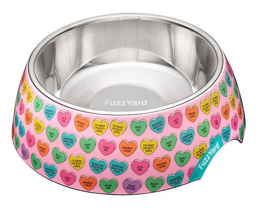 Fuzzyard Candy Hearts Easy Feeder Bowl