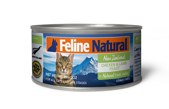 Feline Natural Can Food Chicken & Lamb Feast ( 85g / 170g )