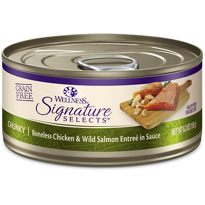 Wellness Signature Chunky Chicken & Salmon ( 5.3oz )