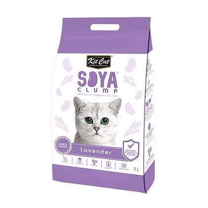 Kit Cat Soya Clump Lavender ( 7Litre )