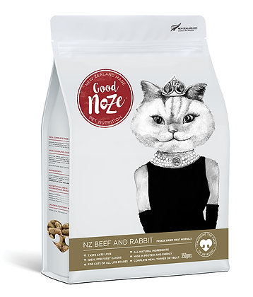 Good Noze Feline Freeze Dried NZ Beef and Rabbit (350g)