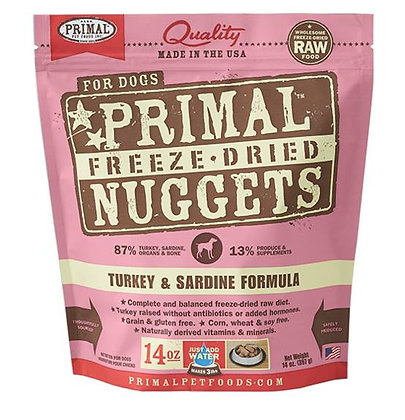 Primal DOGS Freeze-Dried Turkey & Sardine Formula ( 14oz X 2packets )