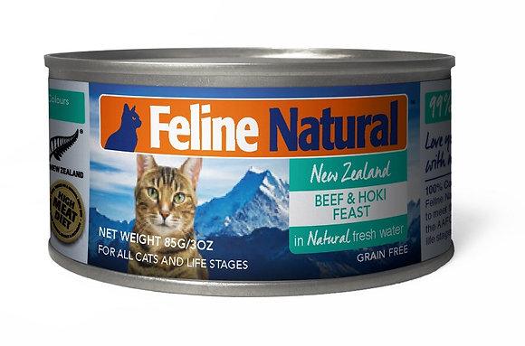 Feline Natural Can Food Beef & Hoki Feast ( 85g / 170g )