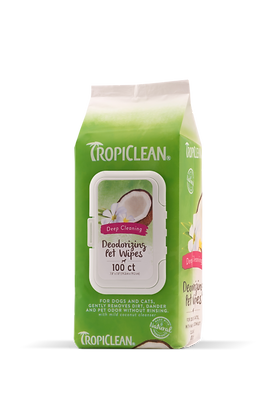 Tropiclean Deep Cleaning Deodorizing Pet Wipes (50wipes)