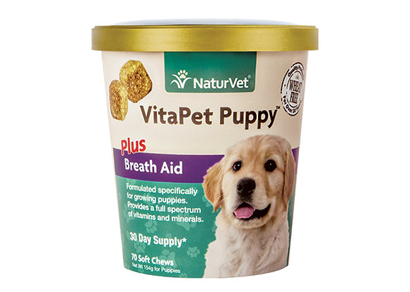 NaturVet VitaPet Puppy Plus Breath Aid Soft Chew ( 70 ct )