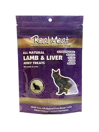 Real Meat Lamb & Liver Jerky For Cats (3oz)