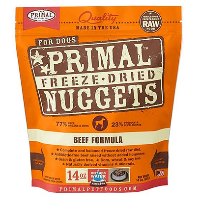 Primal DOGS Freeze-Dried Beef Formula ( 14oz X 4 packets )