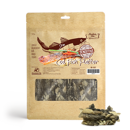 Absolute Bites Air Dried Cod Fish Platter ( 400g )