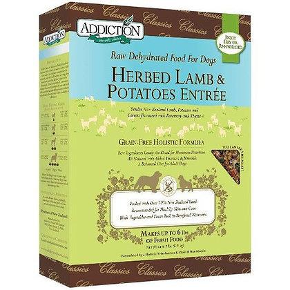 Addiction Dog Dehydrated Herbed Lamb & Potatoes ( 2lb/ 8lb )
