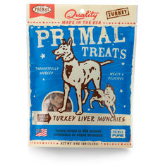 Primal Treats Freeze Dried Turkey Liver Munchies ( 56g )