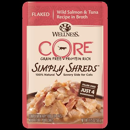 Wellness Core Simply Shreds FOR CATS Wild Salmon & Tuna (1.75oz)