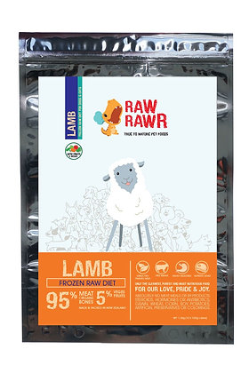 Raw Rawr Lamb Frozen Balanced diet ( 12 x 100g )