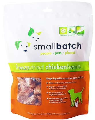 Smallbatch Freeze Dried Chicken Hearts (3.5oz)