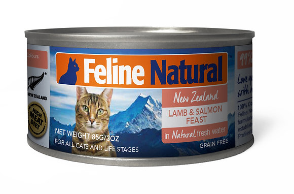 Feline Natural Can Food Lamb & Salmon Feast ( 85g / 170g )