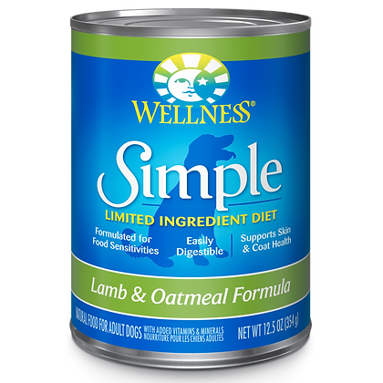 Wellness Lamb & Oatmeal Formula canned ( 12.5oz )